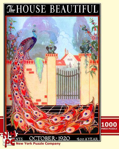 Peacock Garden 1000 piece Puzzle Jigsaw Puzzle