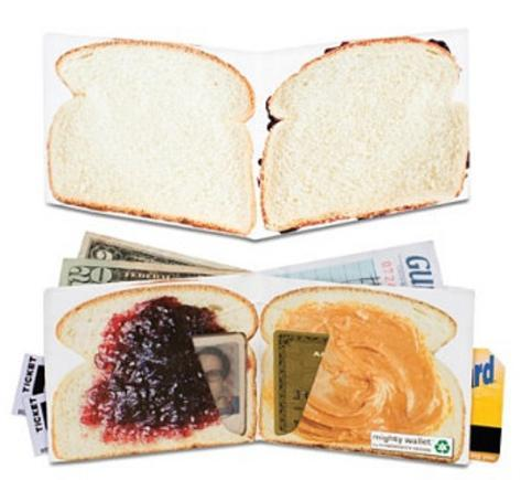Peanut Butter and Jelly Tyvek Mighty Wallet Lompakko