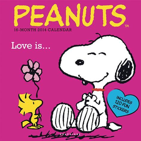 Peanuts Love is - 2014 Calendar Calendars
