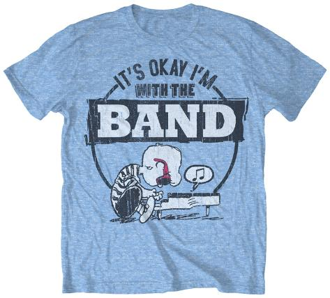 Peanuts - With The Band T-Shirt