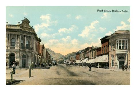 Pearl Street, Boulder Art Print