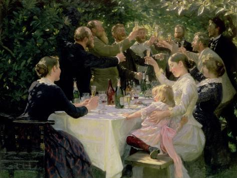 Hip Hip Hurrah! Artists' Party at Skagen, 1888 Giclee Print