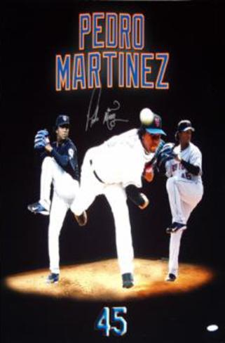 Pedro Martinez Three Photo Mergegraph Autographed Photo (Hand Signed Collectable) Photo