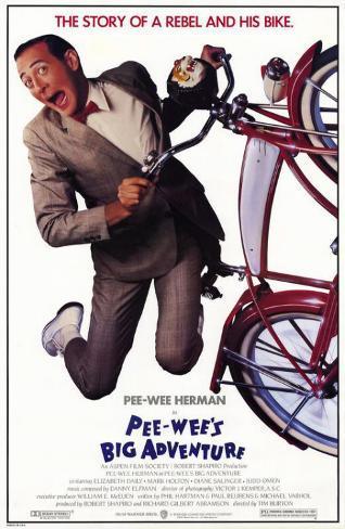 Pee wee's Big Adventure Stampa master