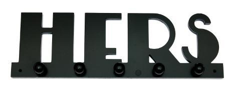 Pegged Word: Hers Wood Sign