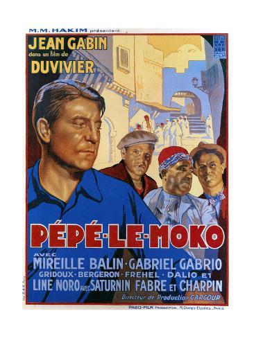Pepe Le Moko, Jean Gabin (Left), 1937 Giclee Print
