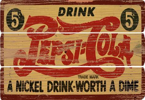Pepsi Cola Wood Sign Wood Sign