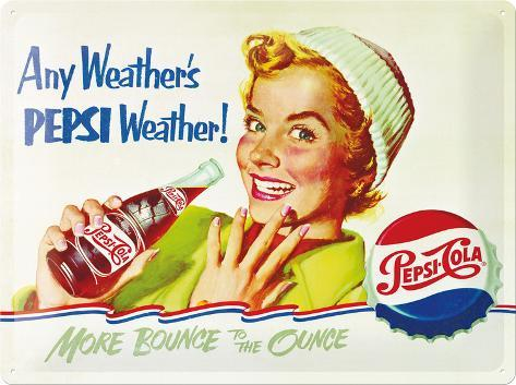 Pepsi Weather Plåtskylt