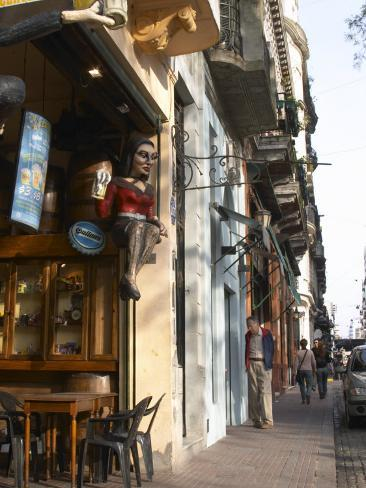 San Telmo District Around Plaza Dorrego Square, Calle Defensa, Buenos Aires, Argentina Photographic Print
