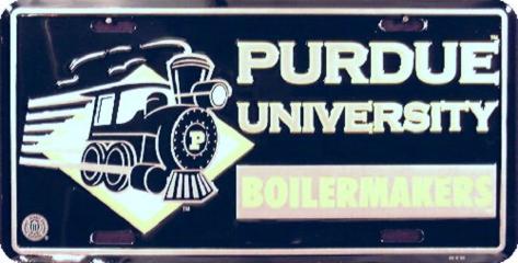 Perdue University License Plate Tin Sign