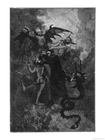 Pere Surin, Sent to Exorcise the Demons Plaguing the Nuns of Saint-Ursule Lámina giclée