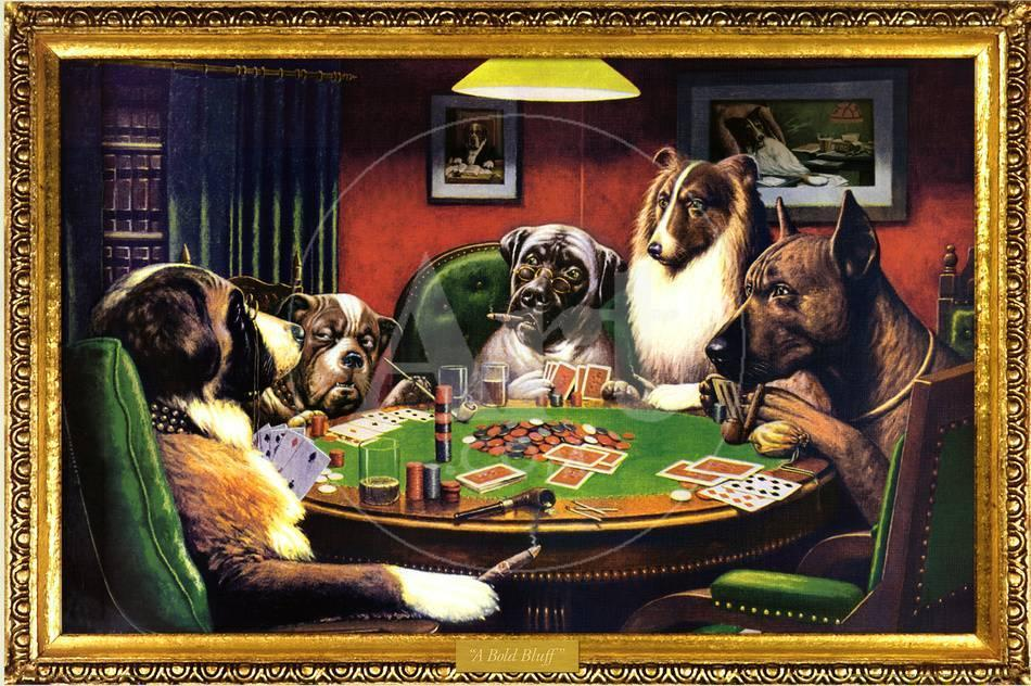 Perros jugando al póquer Láminas en AllPosters.es