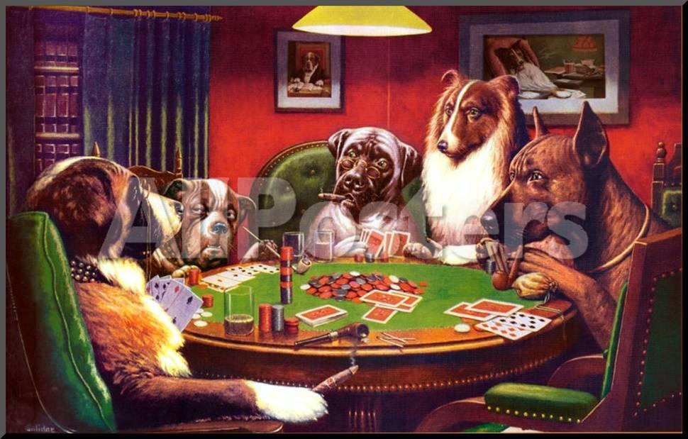 Perros Jugando Al Poquer Lamina Montada En Tabla En Allposters Es
