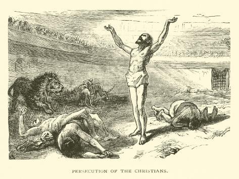 Persecution of the Christians Lámina giclée