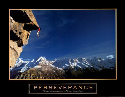 Perseveranza: freeclimber, in inglese Stampa artistica