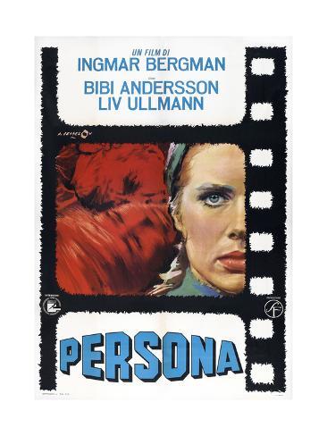 Persona, Italian poster, Liv Ullmann, 1966 Art Print