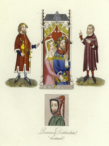 Persons of Distinction of the 15th Century Giclee Print