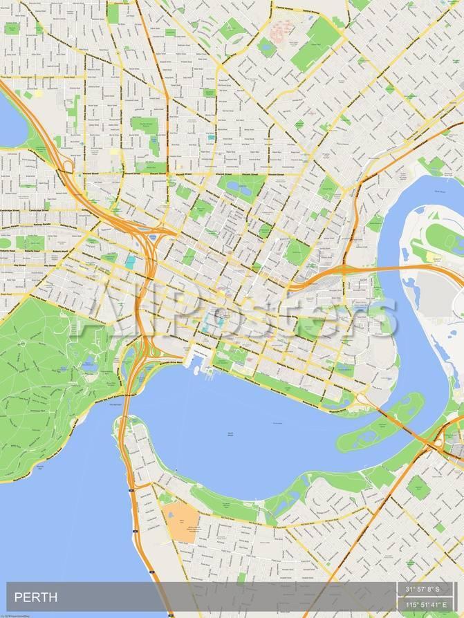 Perth On Map Of Australia.Perth Australia Map