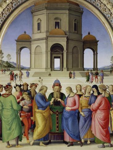 The Marriage of the Virgin, about 1500 Giclee Print