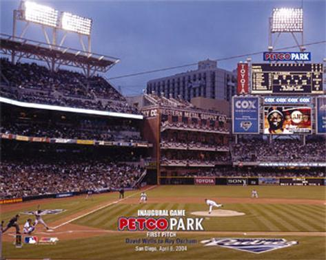 Petco Park  2004 - Inaugural Game 1st Pitch Photo