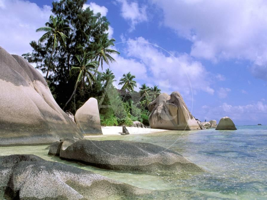 Granite Outcrops La Digue Island Seychelles Africa