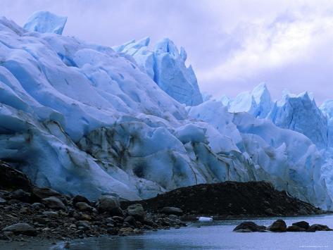 Perito Moreno Glacier and Terminal Moraine, Los Glaciares National Park, Argentina Photographic Print