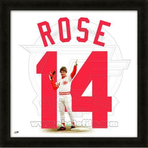 Pete Rose representation of the player's jersey Framed Memorabilia