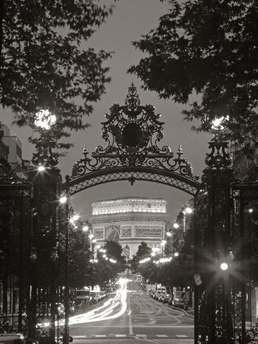Arc de Triomphe, Paris, France Photographic Print