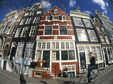 Canalside Buildings, Amsterdam Photographic Print