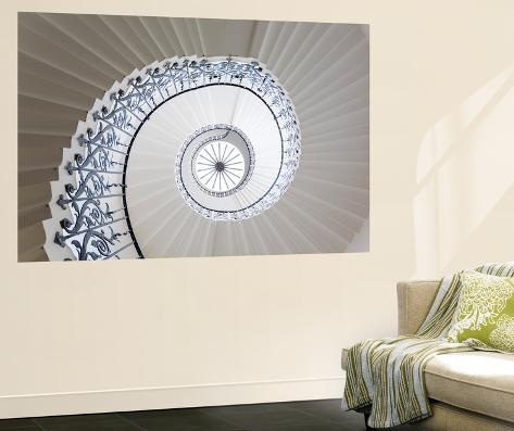 Spiral Staircase, the Queen's House, Greenwich, London, UK Wall Mural