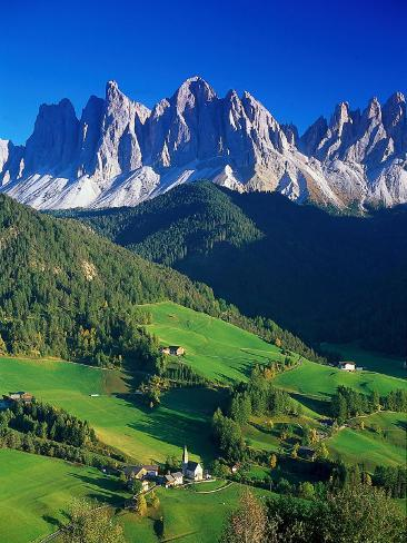 St. Magdalena Kalian Italian Dolomites Photographic Print