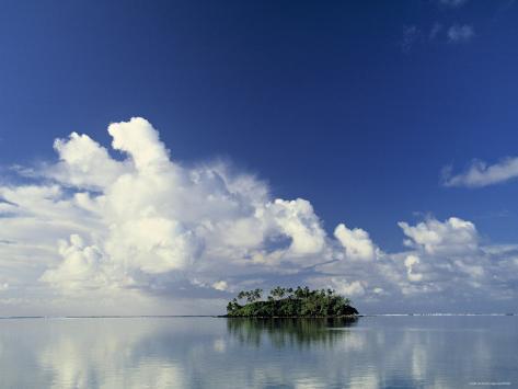Tropical Island, Raratonga, Cook Islands Photographic Print