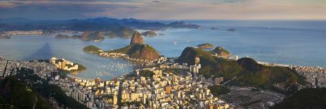 View over Sugarloaf Mountain and City Centre, Rio De Janeiro, Brazil Photographic Print