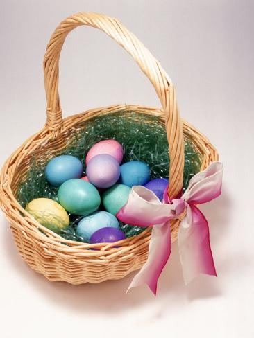 Easter Basket Photographic Print