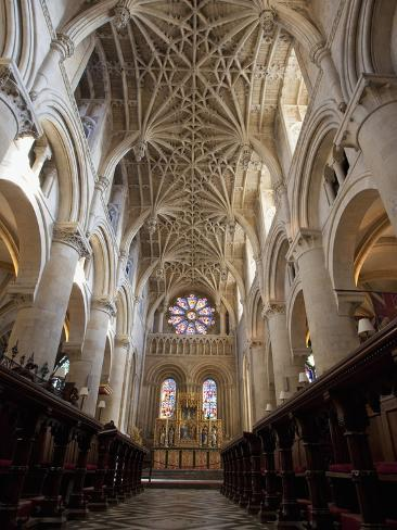 Christ Church Cathedral Interior, Oxford University, Oxford, England Photographic Print