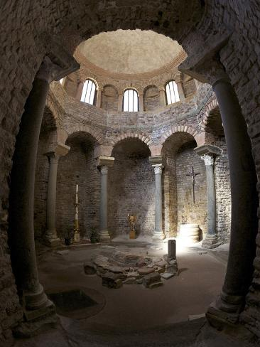 Paleochristian 5th Century Baptistery, Cathedral of St. Leonce of Frejus, Var, Provence, Cote D'Azu Photographic Print
