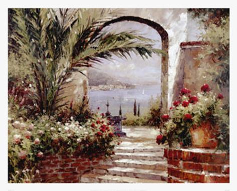 Rose Arch Art Print