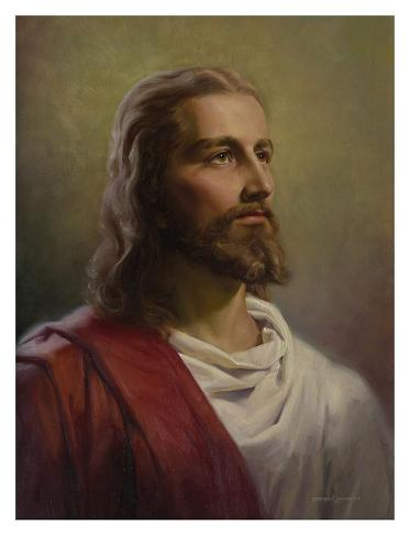 The Christ Head Art Print