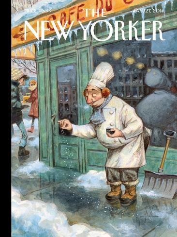 Just a Pinch - The New Yorker Cover, January 27, 2014 Premium Giclee Print