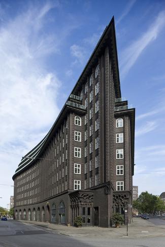 chilehaus 1920 architect fritz hoger brick expressionism hamburg