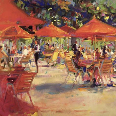 Le cafe du jardin giclee print by peter graham for Cafe du jardin london