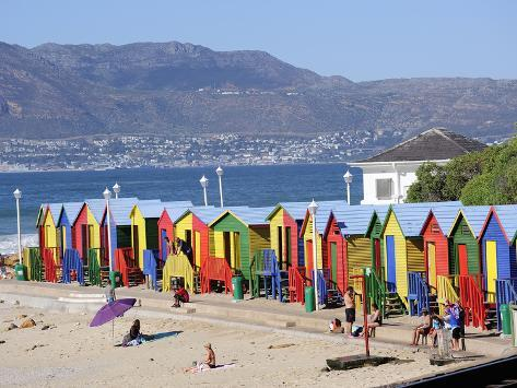 Colourful Beach Huts, Kalkbay, Cape Province, South Africa, Africa Photographic Print