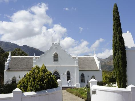 Dutch Reformed Church Dating from 1841, Franschhoek, the Wine Route, Cape Province, South Africa Photographic Print