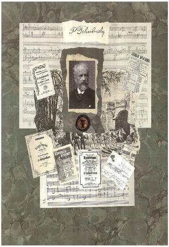 Peter Ilyich Tchaikovsky composer Art Print Poster Poster