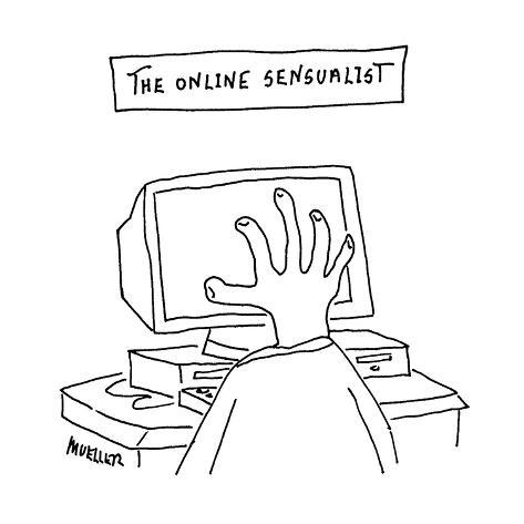 The Online Sensualist - Cartoon Premium Giclee Print