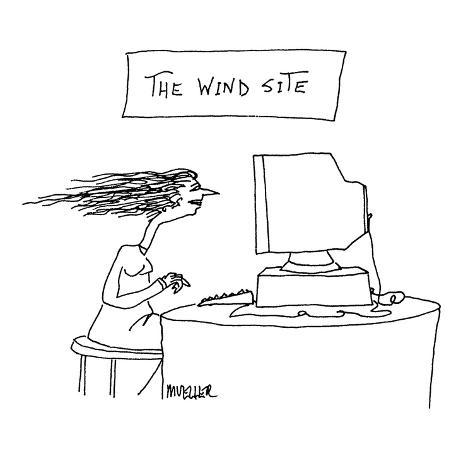 The Wind Site - Cartoon Premium Giclee Print