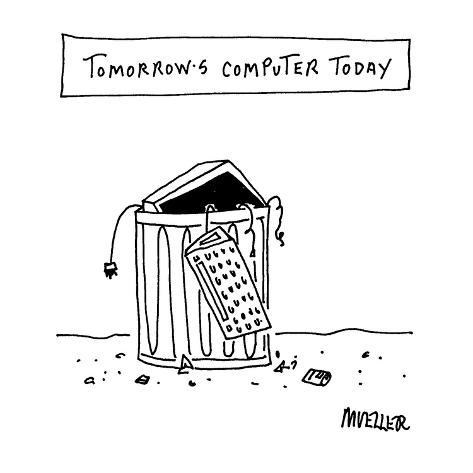 Tomorrow's Computer Today - Cartoon Premium Giclee Print