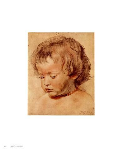 Head of a Boy Art Print