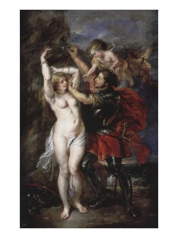 Liberation of Andromeda by Perseus, Greek Hero Who Has Just Saved the Princess Lámina giclée