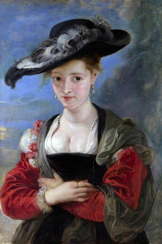 Portrait of Susanna Lunden (Le Chapeau de Paille) c.1622-5 Lámina giclée